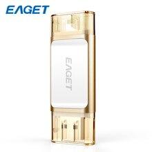 Eaget four Colour MFI Metallic USB Flash Drive 32GB USB Three.zero Pendrive 64GB Exterior Storage Reminiscence Stick 128GB For Iphone Ipad PC i60