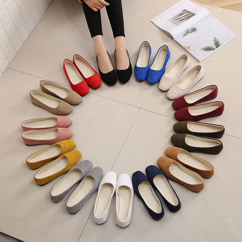 SAILING LU Red Square Toe Shoes Women Solid Black Ballet Flats Spring 2019 OL Lady Work Shoes Slip On White Casual Shoes XWD7251SAILING LU Red Square Toe Shoes Women Solid Black Ballet Flats Spring 2019 OL Lady Work Shoes Slip On White Casual Shoes XWD7251