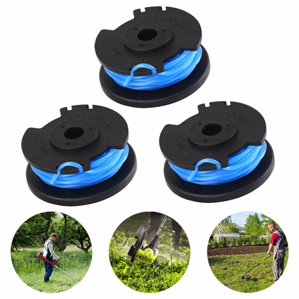 3Pcs String Trimmer Line Ryobi 0.065 Inch Autofeed For Replacement Spools Ryobi 18V 24V 40V Cordless Trimmers Power Tool #5