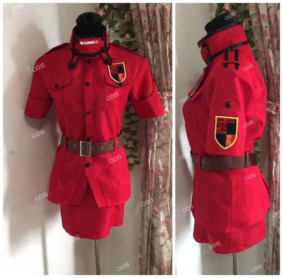 Red Seras Victoria Cosplay: Hellsing Herushingu Seras Victoria Red Cosplay Costume Any