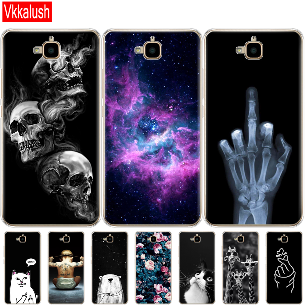 Soft Silicon Phone Case For Huawei Honor 4C Pro Case Honor 4C Pro Cover Back Case For Huawei Y6 Pro 2015 Case TIT-L01 TIT-TL00