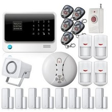 free DHL Wifi GSM Residence Safety Alarm GSM alarme with Smoke Fireplace Detector,Contact Display screen IOS Android APP Burglar Safety Alarm