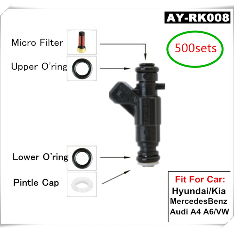 500Sets Fuel Fuel Injection Components Service Repair Kits Filters Orings Seals For Bosh 0280 Series injectors