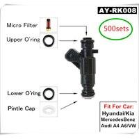 500 комплекты топлива впрыска топлива Компоненты Услуги ремонт Наборы фильтры Orings уплотнения для Bosh #0280 серии инжекторы (AY RK008)