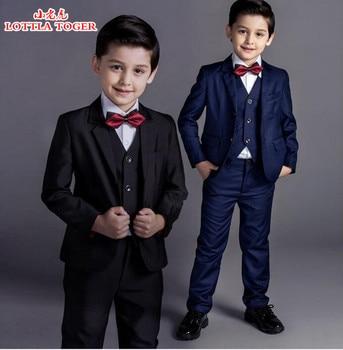 5pcs new arrival fashion baby boys kids blazers boy suit for weddings prom formal black/navy blue dress wedding boy suits