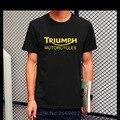 Novo Clássico Verão TRIUNFO MOTOCICLETA T Shirt Homens O Pescoço de Algodão de Manga Curta Boa Qualidade T-shirt Top Tees