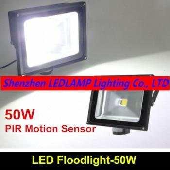 PIR High Power LED Sensor Flood light 85-265V 50W PIR led flood lamp from factory free shipping