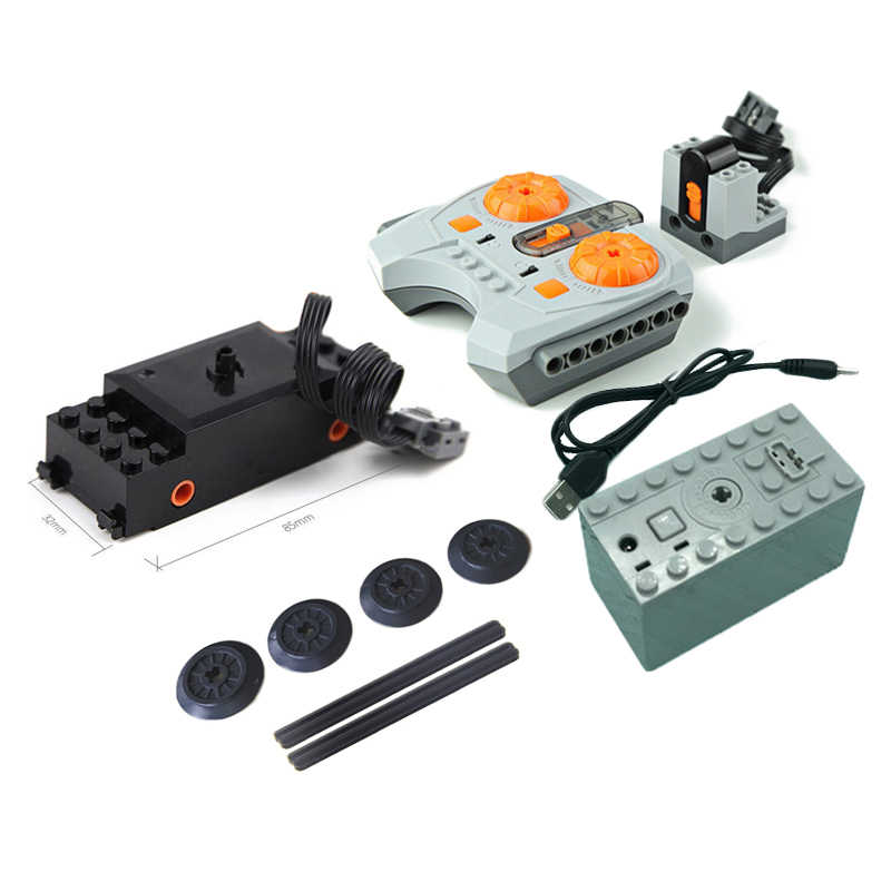 NEW Train Upgrade Remote Control Parts Motor/Motor/Remote Control Building Blocks Parts Sets DIY Toys For 10254 Power Set