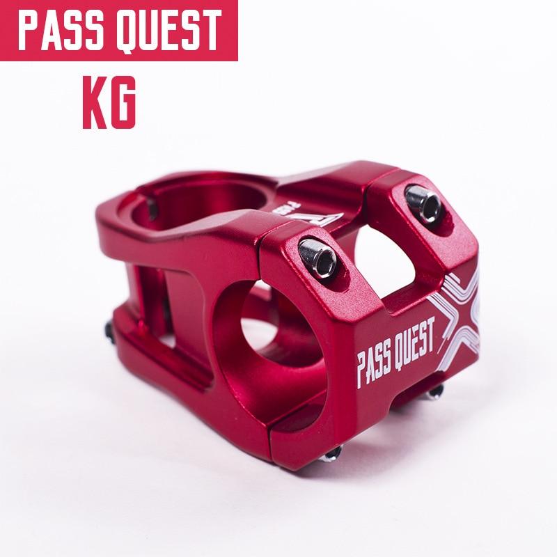 Q1063 tige de vélo vtt montagne route guidon tiges livraison directe PASS QUEST KG 35mm DJ AM DH descente vtt jambe courte AM Riser