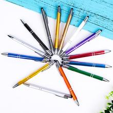 Fashion 13 color creative pen ball pen writing office stationery and blue black school pen mp blue ball pen