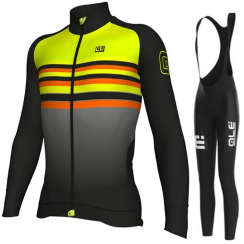 2018 ALE long sleeve cycling wear clothes bicycle cycling jersey bib pants set Breathable clothing set
