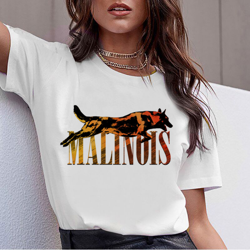 Beagle Border Collie Malinois 90s T Shirt Women Korean Bull Terrier Rottweiler T-shirt Cute Whippet Greyhound Tshirt Tops Female