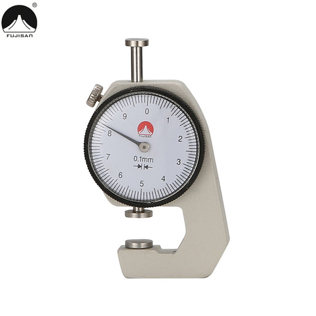 sheet metal measuring tools. fujisan mini dial thickness gauge 0-10mm/0.1 jewelry for sheet metal leather measuring tools