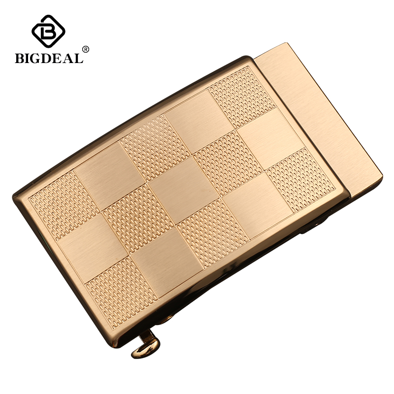 BIGDEAL Mens Solid Brass Automatic Buckle Heads For Leather Belt Straps 3.5CM Width Waistband Accessory