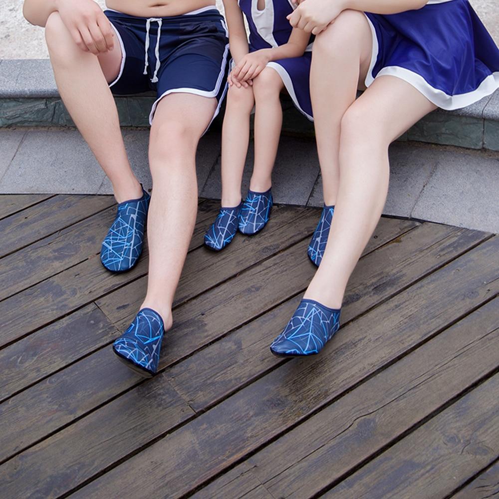 JACKSHIBO Summer Water Shoes Men Swimming Shoes Aqua Beach Shoes Big Plus Size Sneaker for Men Striped Colorful zapatos hombre 5