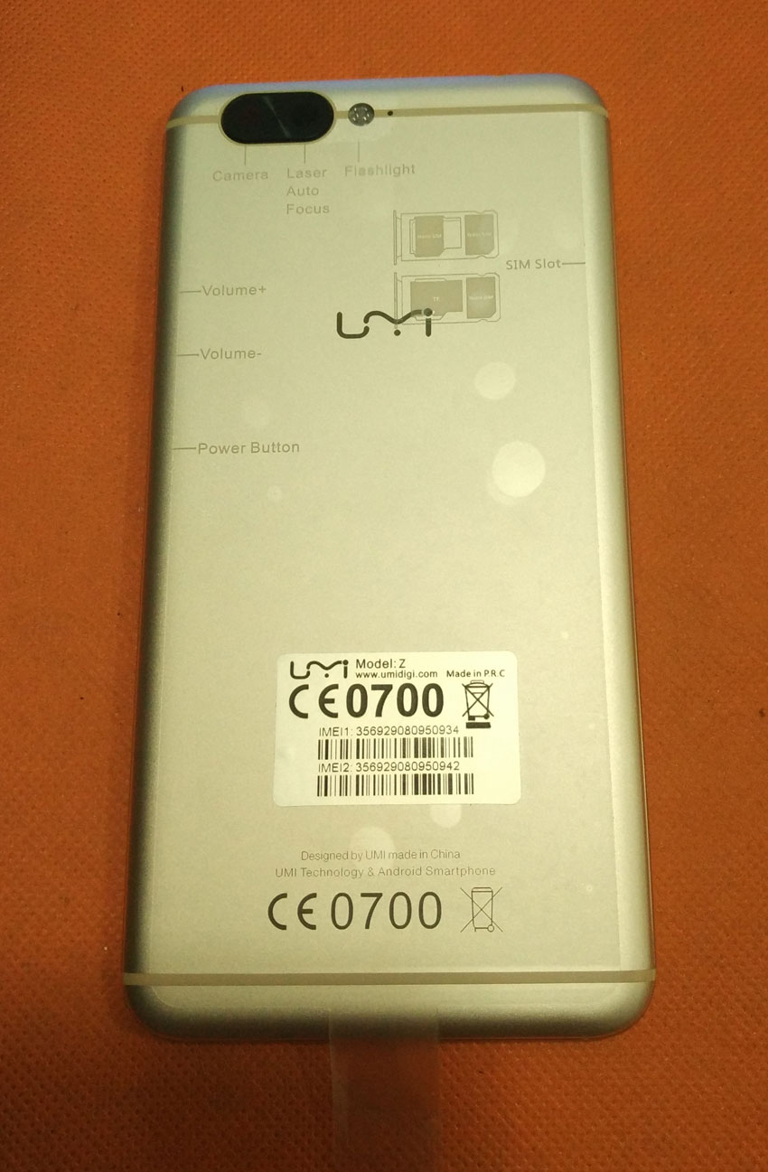Verwendet Ursprüngliche Schützende Fall-abdeckung + camera lens für UMI Z MTK Helio X27 Deca Core 5,5