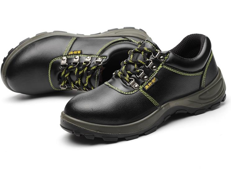 Solid breathable anti-odor safety shoes male work shoes steel toe cap covering wear-resistant oil cowhide size 36--45