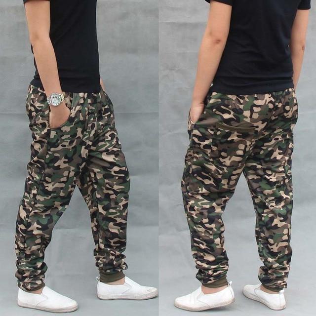 Trendy Men Hip Hop Pants Military Army Green Camouflage Joggers Sweatpants  Cotton Striped Streetwear Harem Pants Male Trousers 93d94fa5b