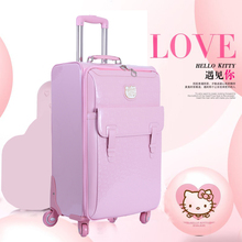 888d84d9ed New Lovely 16 inch Hello Kitty Cosmetic bag 20 24 inch girl students cute  trolley Travel