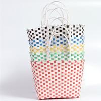 Load bearing Handmade Rattan Woven Plastic Basket Environmental Protection Handbag Large Tote