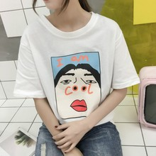 I am Cool Funny Letter Print Harajuku T shirt Women Fashion Short Sleeve Tshirt Korean Creative Lady T-shirt Loose Casual Tops