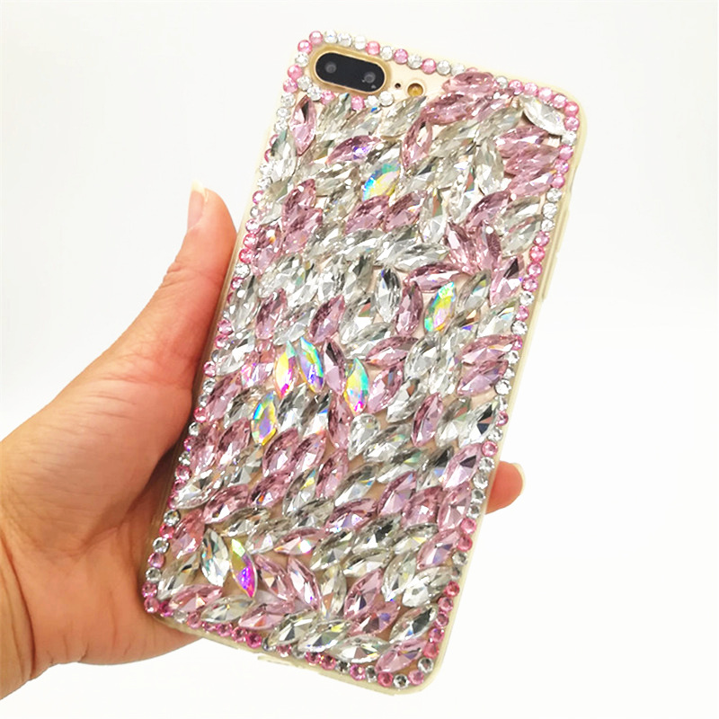 For Huawei P8 P9 P10 P20 Lite Plus Mate 7 8 9 10 Pro Luxury Glitter Back Cover Crystal Bling Diamond rhinestone soft Phone case