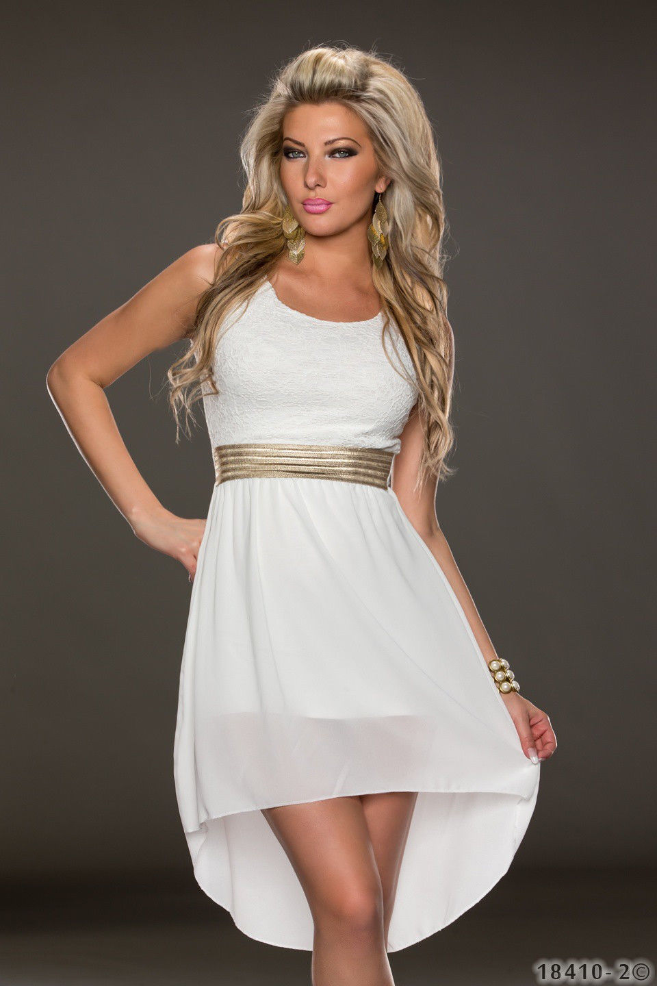 free shipping new design sexy chiffon dress sexy mature women white
