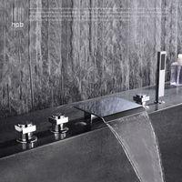 HPB Đồng torneira banheiro Nóng và Lạnh Nước Tắm Vòi Hoa Sen Vòi Sàn Mounted Bồn Tắm Mixer Bath Set HP5302