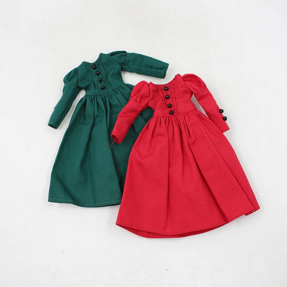 1/6 Одежда для кукол красное, зеленое платье подходит для Блит icy azone joint doll