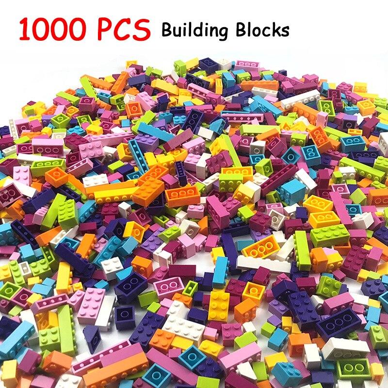 1000 Peças de Construção Blocos Tijolos Crianças Brinquedos Criativos Blocos Figuras para Compatível Todas As Marcas Meninas Crianças Presente de Aniversário