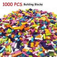 1000 шт. строительные блоки кирпичи Детские креативные Legoings игрушки Фигурки для совместимых всех брендов блоки девочки дети подарок на день р...