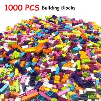 1000 pezzi Building Blocks Mattoni Bambini Creativo Legoings Giocattoli Figure per Compatibile Tutte Le Marche Blocchi Ragazze Bambini Regalo di Compleanno