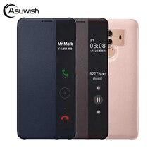 Thông Minh Gập Bao Da Ốp Lưng Điện Thoại Huawei Mate 10 Pro Mate10 10pro Mate10pro Sang Trọng Từ Tính Chống Sốc 360