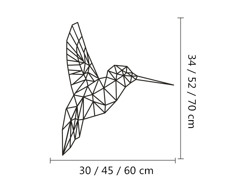 Birds Geometric Decorative Wall Art , Geometric Animals Kingfisher ...