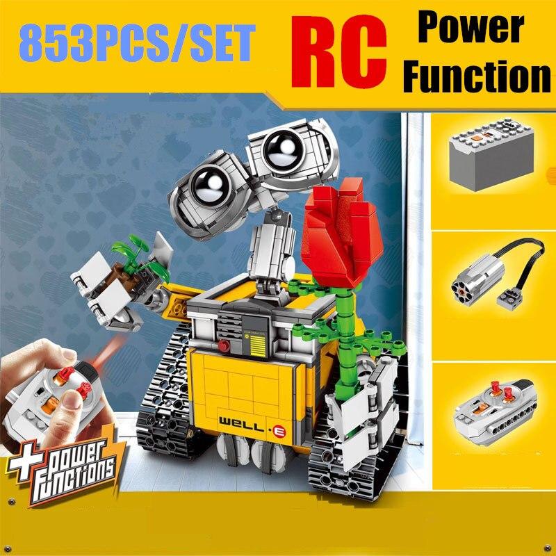 Mur E Robot IR RC puissance fonction fit legoings mur E créateur technique chiffres bloc de construction brique bricolage jouet 21303 cadeau enfant