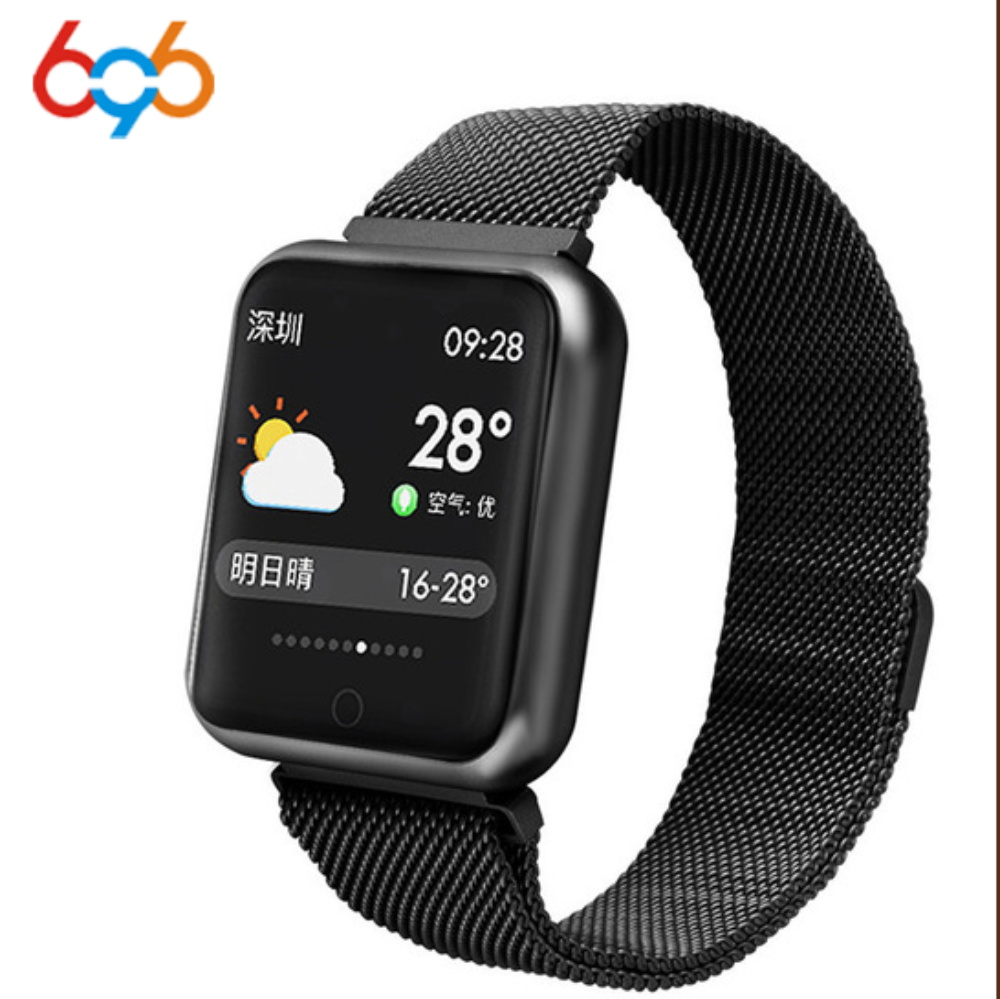 696 Sports P68 Smart Watch IP68 Waterproof fitness tracker bracelet activity heart rate monitor blood pressure for ios Android|Smart Wristbands| |  - title=
