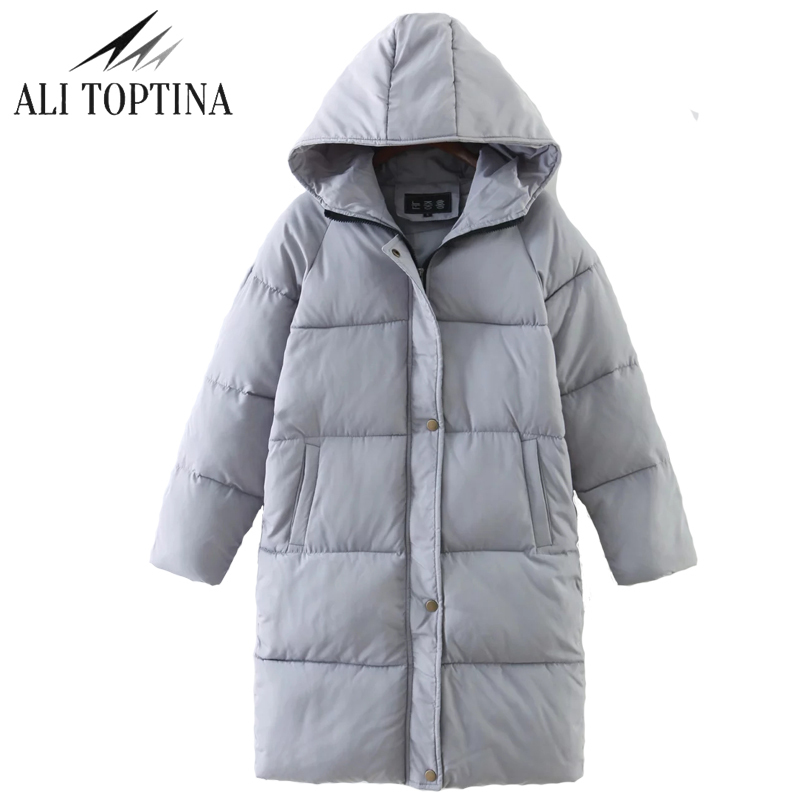 ALI TOPTINA Cotton-padded Girls Long Bread  2017 Overknee Thickening Women  Winter Loose Coat Female Down Cotton Jacket MF08  naim fraimlite level long cherry ali
