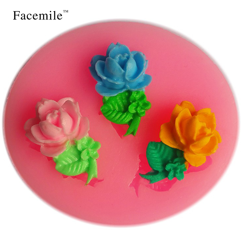 Facemile Hot sale cupcake cake flower shape muffin sweet candy jelly fondant cake chocolate Gift baking pan cooking tools 50-86