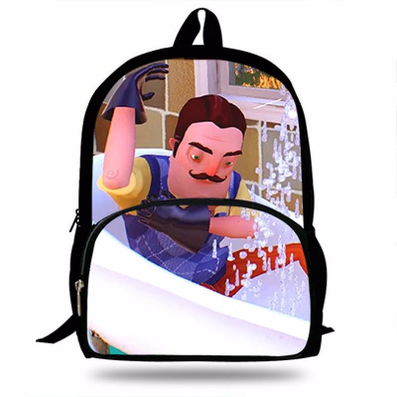 2019 Новинка; Лидер продаж Hello Neighbor смешная игра 3D Печать школьный рюкзак для школьные для мальчиков для девочек модные Повседневное рюкзак для школьников