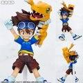 Anime Digimon Adventure Yagami Taichi & Agumon  PVC Action Figure Collectible Model Toy 11cm KT2426
