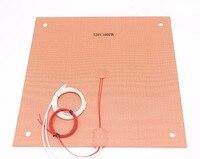 Funssor 508mm/20 ''için Silikon Isıtıcı Creality CR-10 S5 3D yazıcı ısıtmalı Silikon ısıtıcı ped hızlı ısıtma