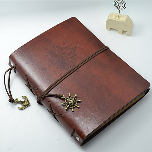 Leather Vintage Handmade DIY Photo Album Kraft Scrapbooking Book Couples Creative Gift image