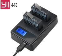 2Pcs Battery LCD USB Dual Charger For Yi Lite Xiaomi YI 4K Batteries Akku Xiaomi Yi