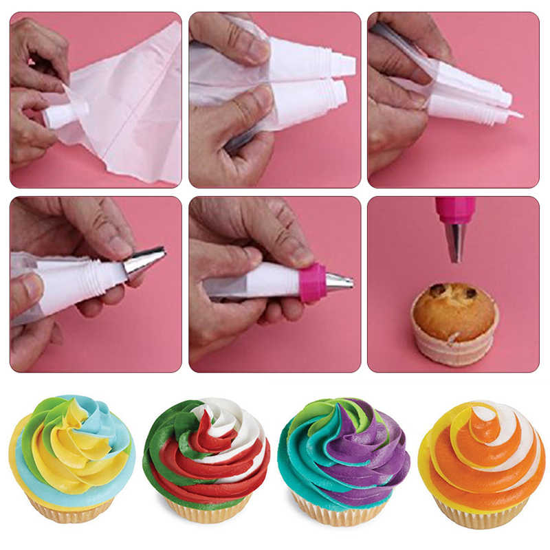 Cake Tools Plastic Converter Adapter Pipe Bag Cream Nozzle Pipe Coupler Cake Pastry DIY Decorating Tool Home Baking Tools
