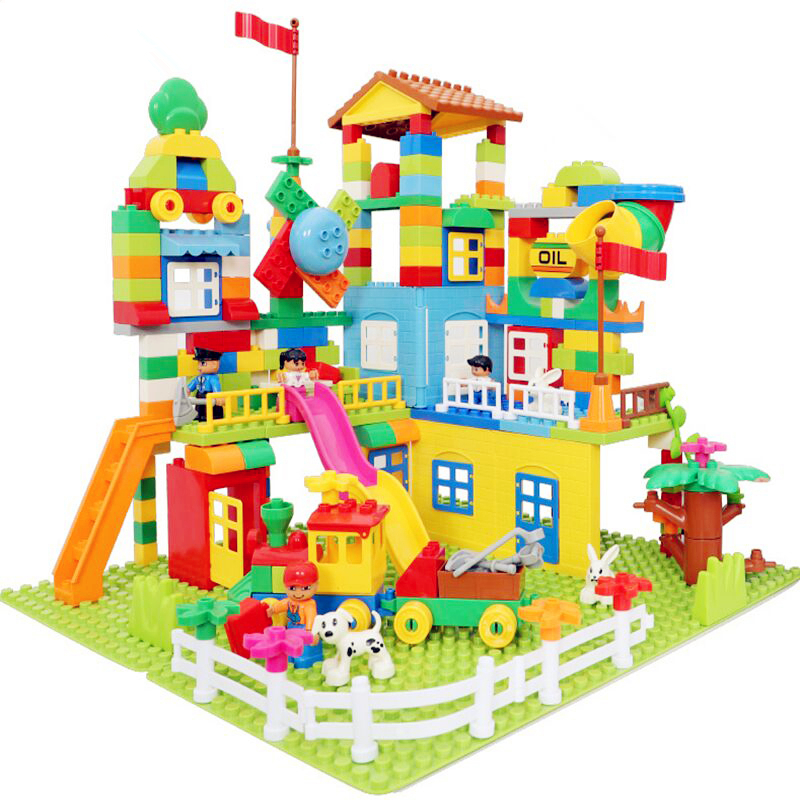 113-238pcs Marble Run Building Blocks Set ABS Amusement Park Maze Educational Toys For Children Compatible City Bricks(China)