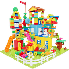 113-238pcs Marble Run Building Blocks ABS Amusement Park Maze Educational Toys for Children Compatible Legoed Duploed Bricks