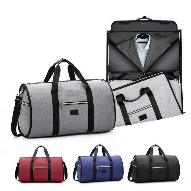Водостойкая дорожная сумка мужская одежда сумки для женщин Дорожная сумка 2 в 1 большой вещевой багаж сумки ручной работы для отдыха