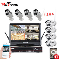 Wireless Security Camera System HD 960P 10 1 Inch Display NVR Outdoor 20m Night Vision Waterproof
