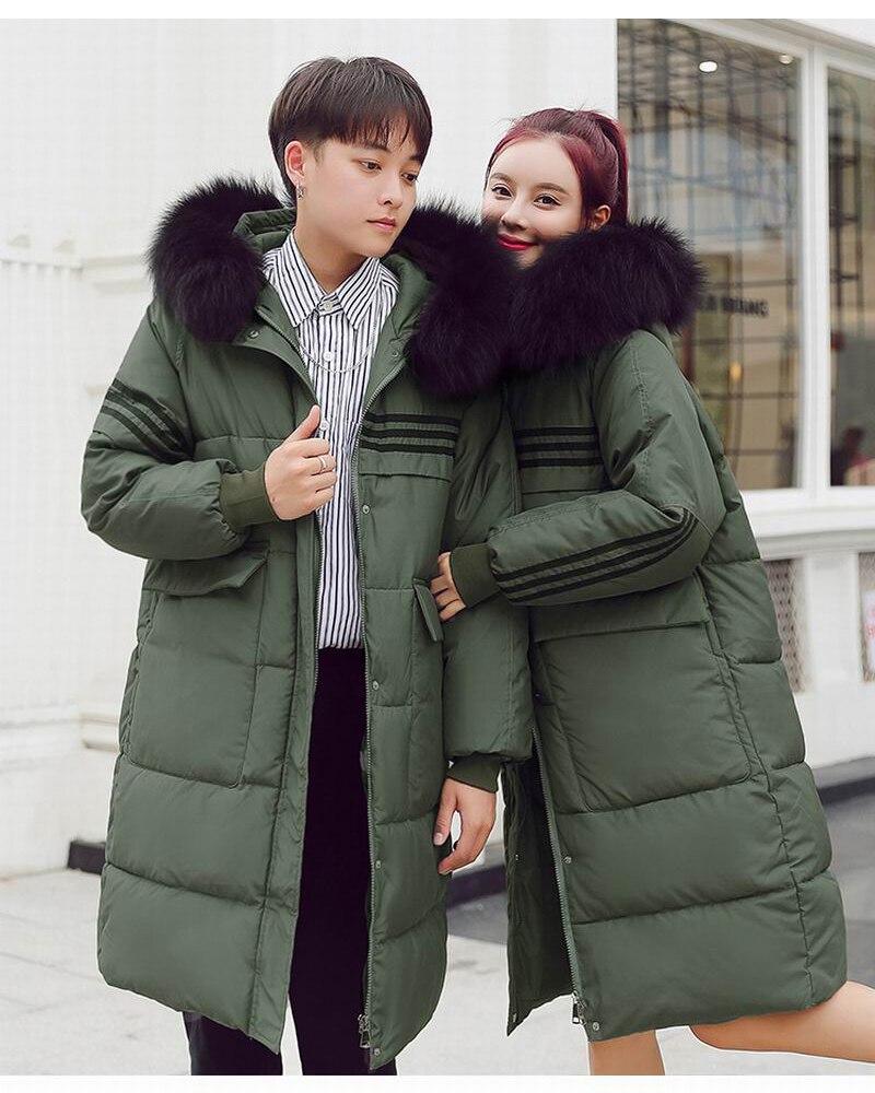 6fb194651 2019 Winter Jacket Women Big Fur Hooded Parka Long Coats Cotton ...