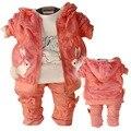 Anlencool Nova Primavera e Outono crianças terno senhoras encantadoras vento marca baby girl roupas conjuntos terno do bebê da roupa do bebê